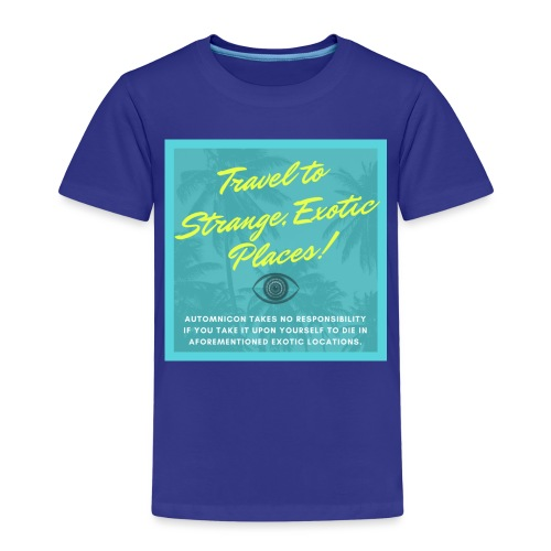 Automnicon. Travel to strange, exotic places! - Kids' Premium T-Shirt