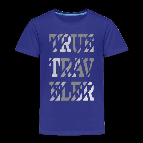 True Traveler Grey design - Lasten premium t-paita