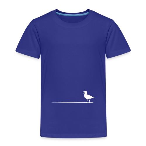 Möwe auf dem Strich - Kinder Premium T-Shirt