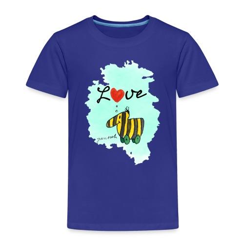 Janosch Tigerente Love Türkis SP - Kinder Premium T-Shirt