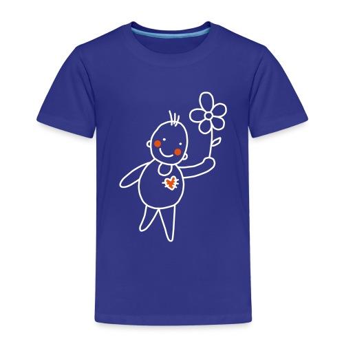 Strichmännchen Blume Herz Kinderzeichnung Graffiti - Kids' Premium T-Shirt
