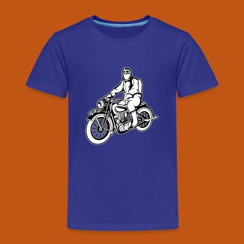 Chopper / Motorrad 04_schwarz weiß - Kinder Premium T-Shirt