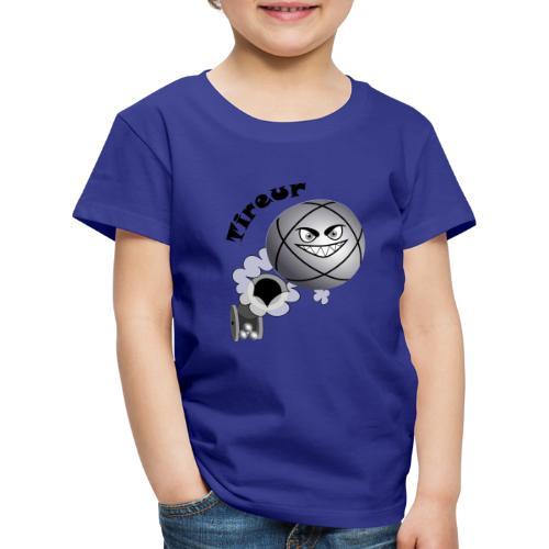 t shirt pétanque tireur boule existe en pointeur N - T-shirt Premium Enfant