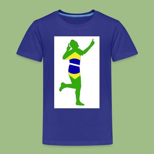 Neymár Brazil - Premium-T-shirt barn