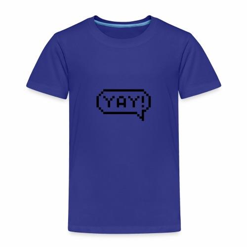 Sprechblase Yay! - Kinder Premium T-Shirt