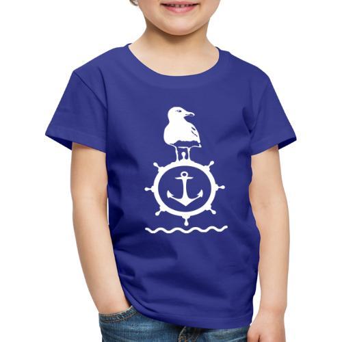 Möwe Steuerrad Anker Wellen Küste Meer Hafen - Kinder Premium T-Shirt