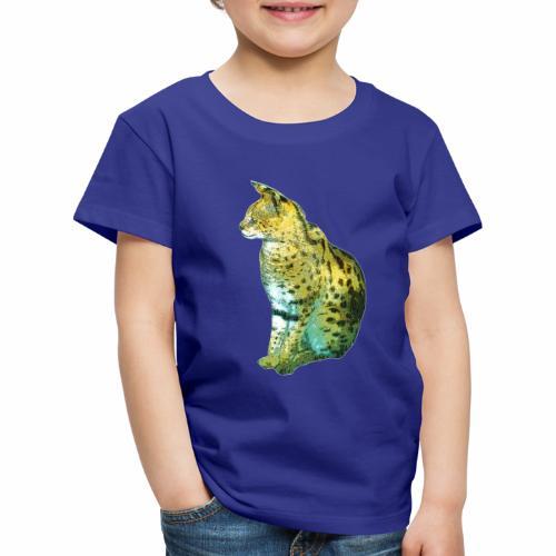Schöner sitzender Serval - Kinder Premium T-Shirt