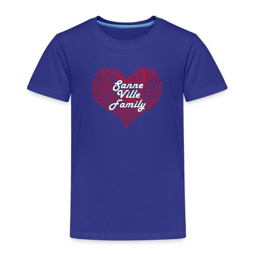 SanneVilleFamily Hjerte Logo - Børne premium T-shirt