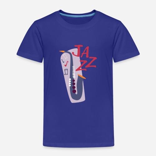 Saxophon Comic Style - Kinder Premium T-Shirt