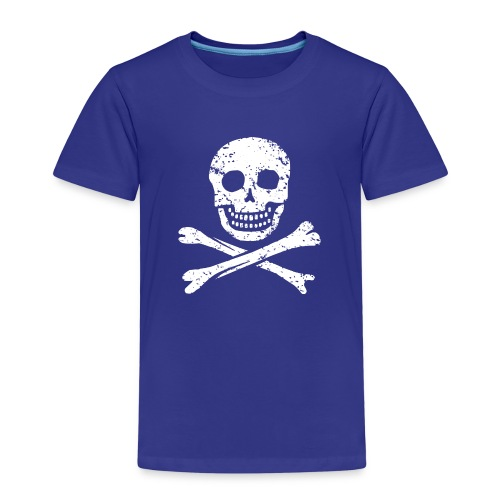 Skull & Crossbones - Distressed - Kids' Premium T-Shirt