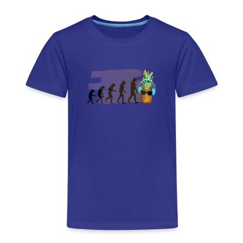 Evolution der coolen Ananas mit Kopfhoere und scho - Kinder Premium T-Shirt