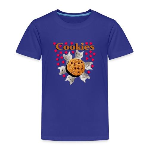 Cookies and cat biscuits cats heart cat head - Kids' Premium T-Shirt