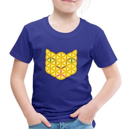 The Cat Of Life - Sacred Animals, B04, Yellow. - Kids' Premium T-Shirt