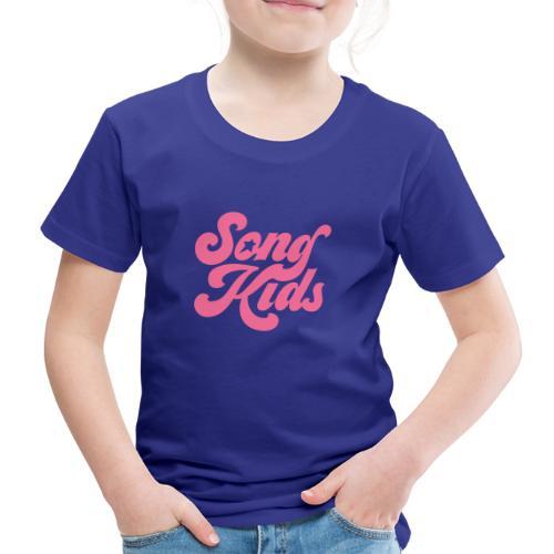 SongKids logo pink png - Kids' Premium T-Shirt