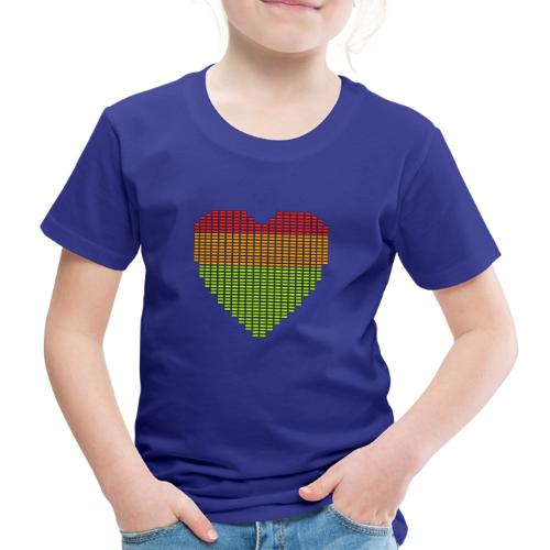 Techno EQ Equalizer Musik Herz Anzeige - Kinder Premium T-Shirt