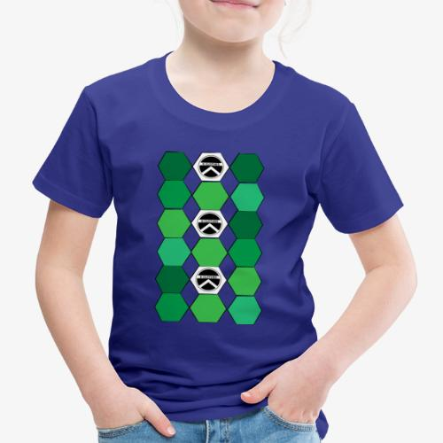 |K·CLOTHES| HEXAGON ESSENCE GREENS & WHITE - Camiseta premium niño
