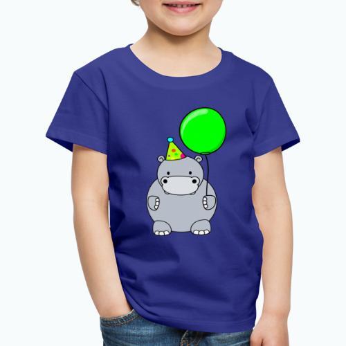 Henri Hippo Party - Appelsin - Premium-T-shirt barn