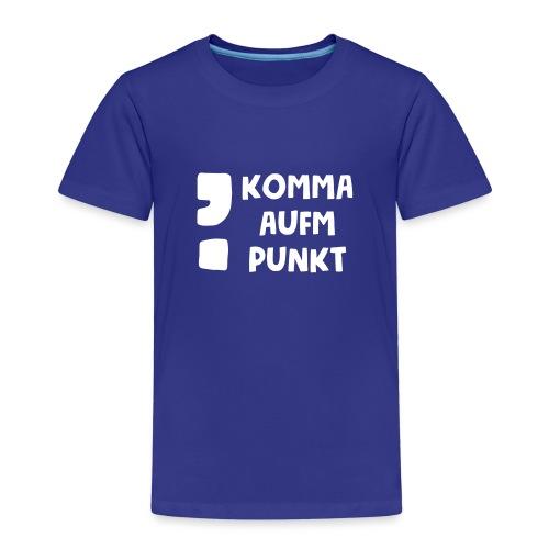 Komma aufm Punkt Spruch - Kinder Premium T-Shirt