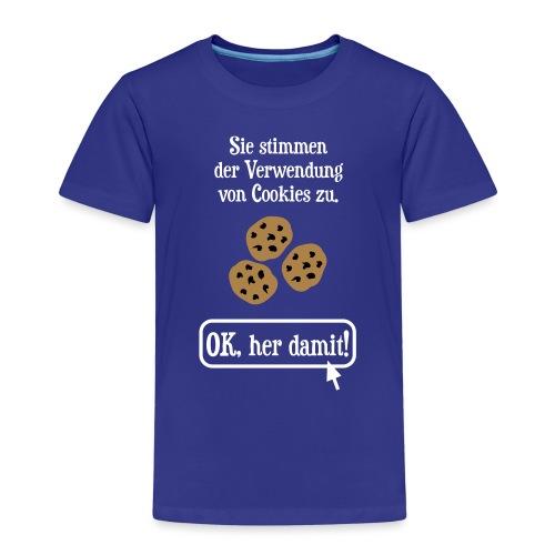 Cookie Hinweis Internet Nerd Spruch - Kinder Premium T-Shirt