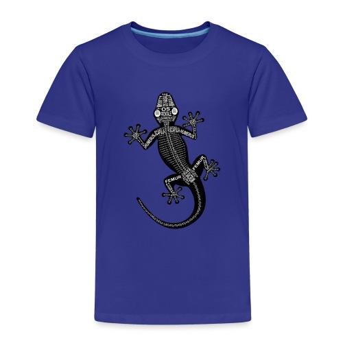 Gecko-Skelett - Børne premium T-shirt
