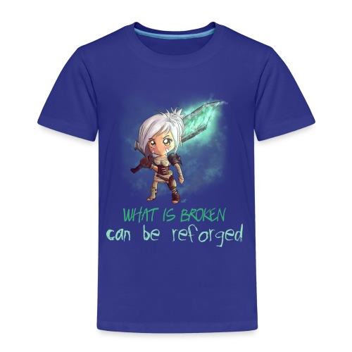 Chibi Riven con scritta DONNA - Maglietta Premium per bambini