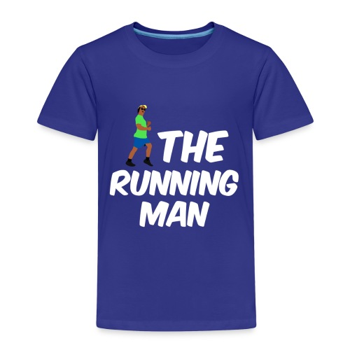 The Running Man Light Blue Shirt White Font - Kids' Premium T-Shirt