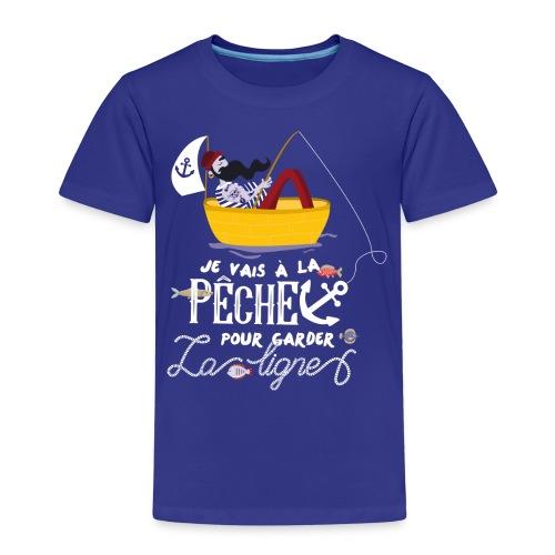 pêche pêcheur bateau barque poisson voilier ancre - T-shirt Premium Enfant