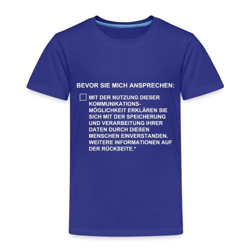 DSGVO Checkbox - Kinder Premium T-Shirt