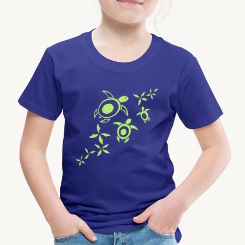 blumige Wasserschildis - Kinder Premium T-Shirt