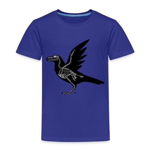 Raben-Skelett - Børne premium T-shirt