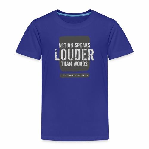 Action Speaks 4lines ver.02 - Børne premium T-shirt