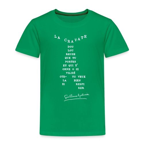 Calligramme Cravate Apollinaire - T-shirt Premium Enfant