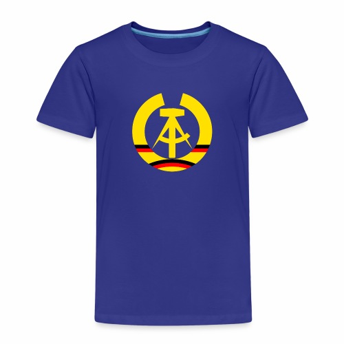 DDR coat of arms stylized (single) - Kids' Premium T-Shirt