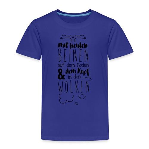 Kopf in den Wolken - Kinder Premium T-Shirt