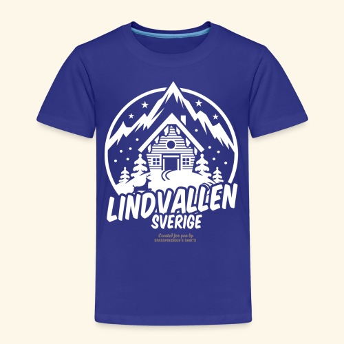 Lindvallen Sälen Sverige Ski Resort T Shirt Design - Kinder Premium T-Shirt