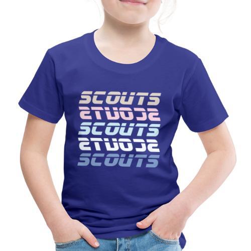 SCOUTS Retro Typo Pastell Mix - Kinder Premium T-Shirt