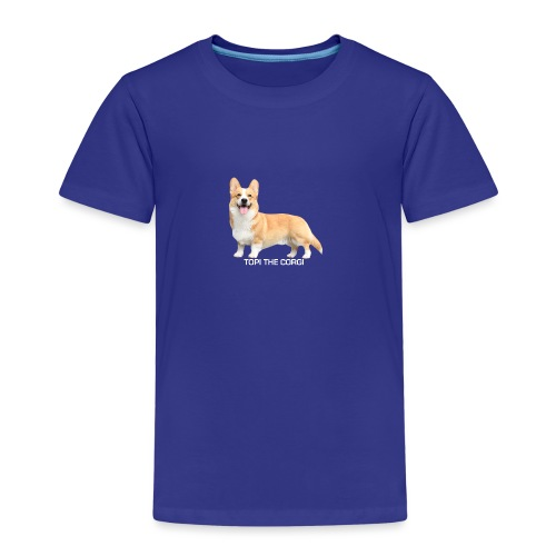 Topi the Corgi - White text - Kids' Premium T-Shirt