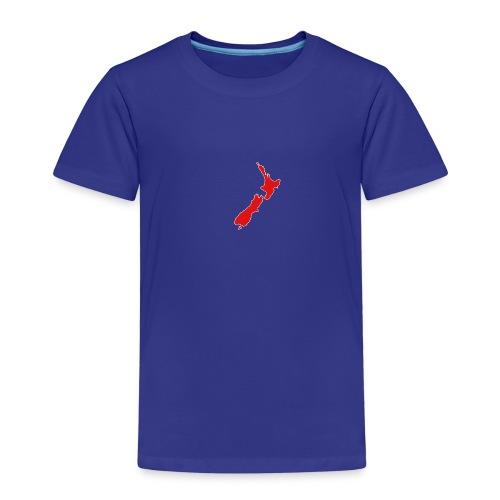 New Zealand Map - Kids' Premium T-Shirt