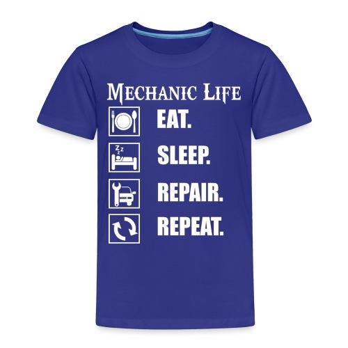Das Leben als Mechaniker ist hart! Witziges Design - Kinder Premium T-Shirt