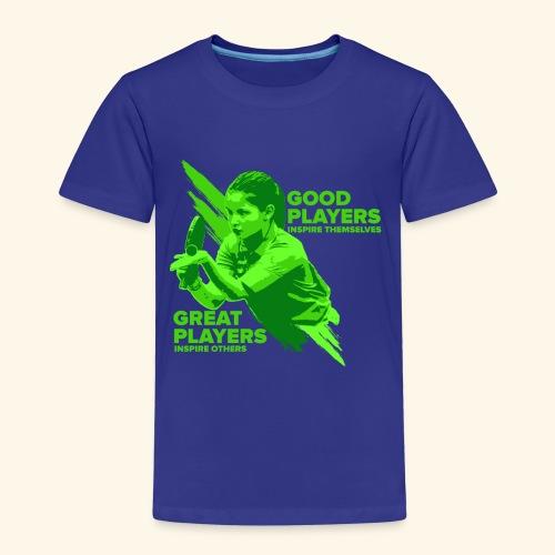 Tischtennis Mädchendesign Konzetration - Kinder Premium T-Shirt