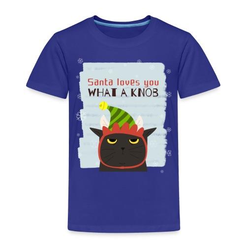 Funny Christmas Grumpy Cat Design. New Xmas Gift - Kids' Premium T-Shirt
