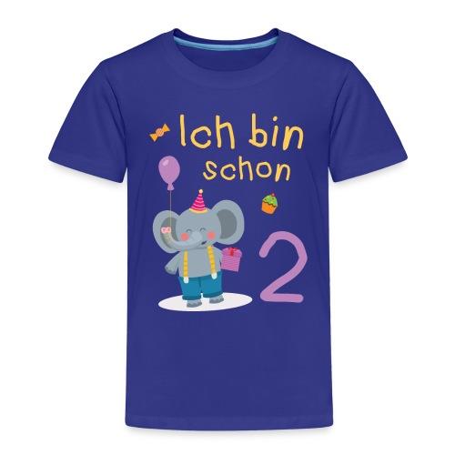 Ich bin schon 2 Elefant Geschenk Kindergeburtstag - Kinder Premium T-Shirt
