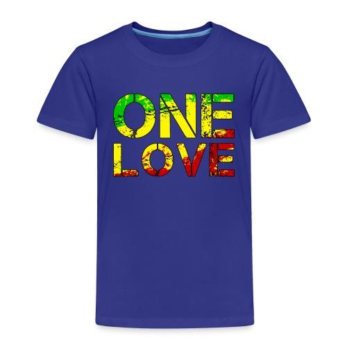 One Love - Reggea Musik - Kinder Premium T-Shirt