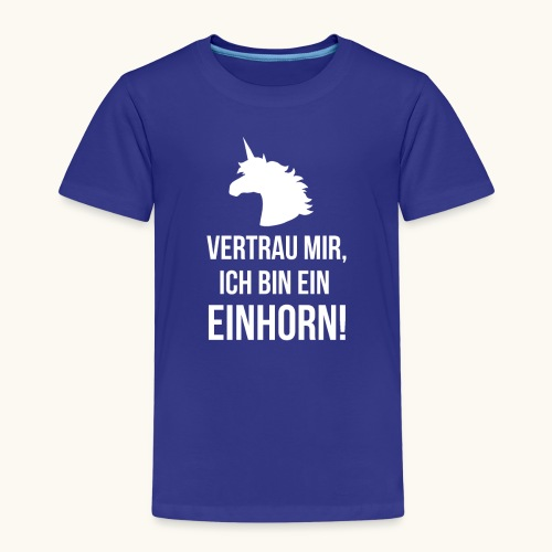 Lustiges Einhorn Spruch Geschenk Vertrauen Weiss - T-shirt Premium Enfant