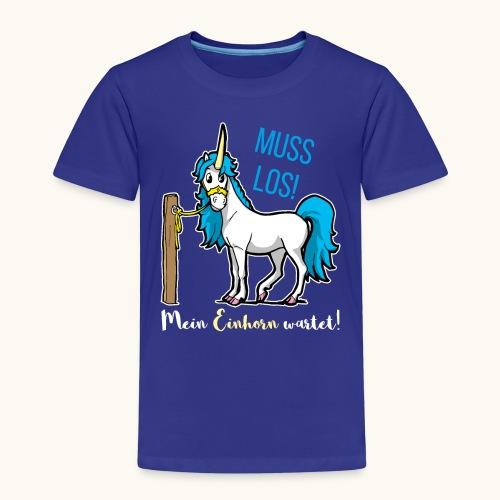 Dessin drôle de licorne disant bande dessinée cadeau - T-shirt Premium Enfant