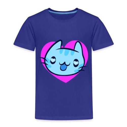 Cat Katze Face Gesicht Katzenaugen Liebe Herz - Kids' Premium T-Shirt