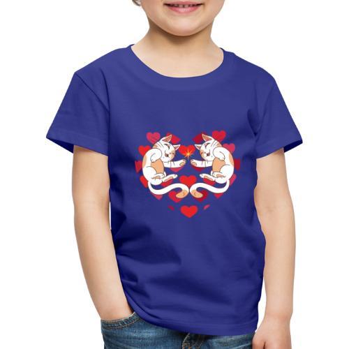 Katze Liebe Herze - Kids' Premium T-Shirt