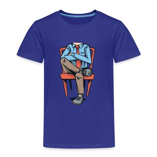 Caricatura Hombre sin Cabeza Sentado - Camiseta premium niño