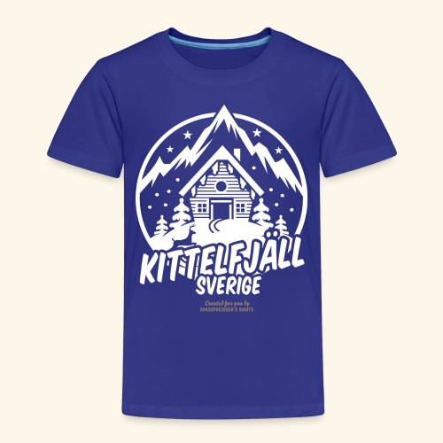 Kittelfjäll Ski Resort T Shirt Design - Kinder Premium T-Shirt