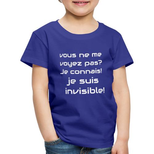 Invisibile #invisibile - Maglietta Premium per bambini